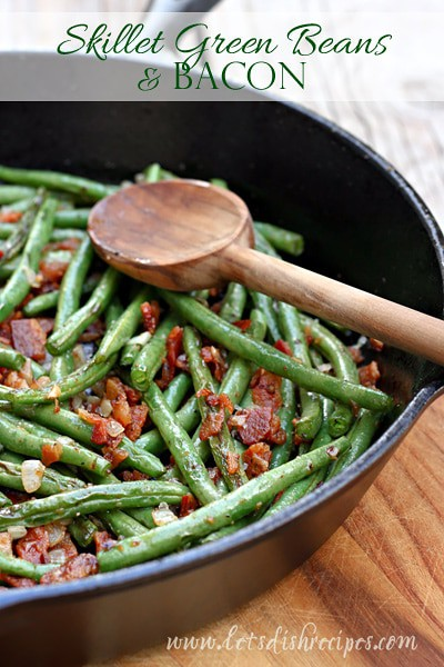 skillet green beans and bacon