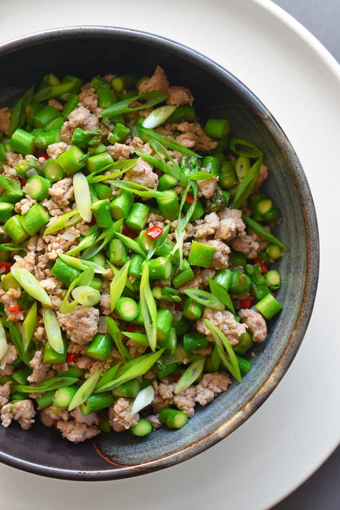 Spicy Pork and Asparagus Stir Fry