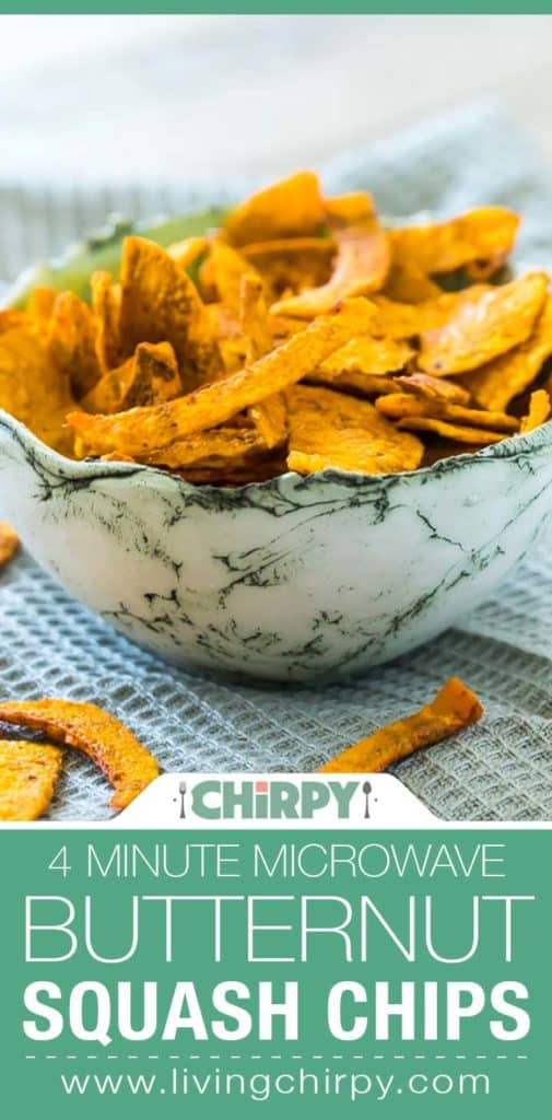 4 Minute Microwave Butternut Squash Chips