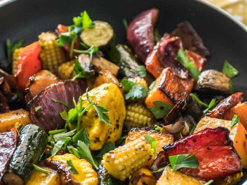 Chimichurri Oven Roasted Vegetables