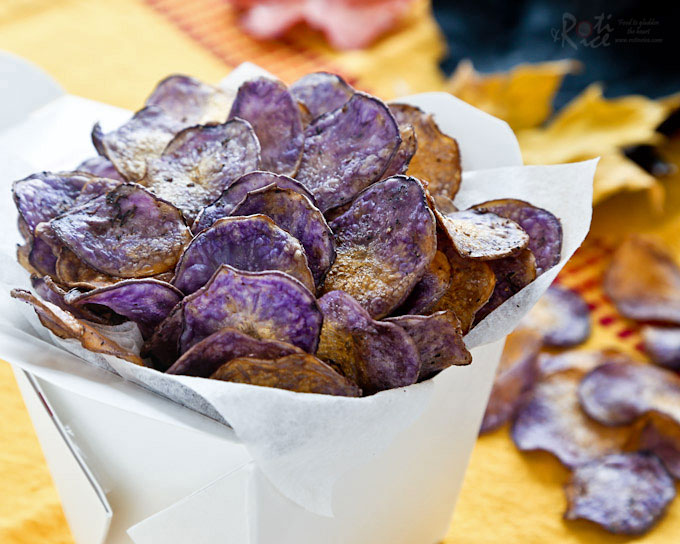 purple baked potato chips