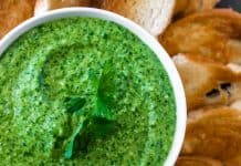 Cilantro Pesto with Cashew Nuts
