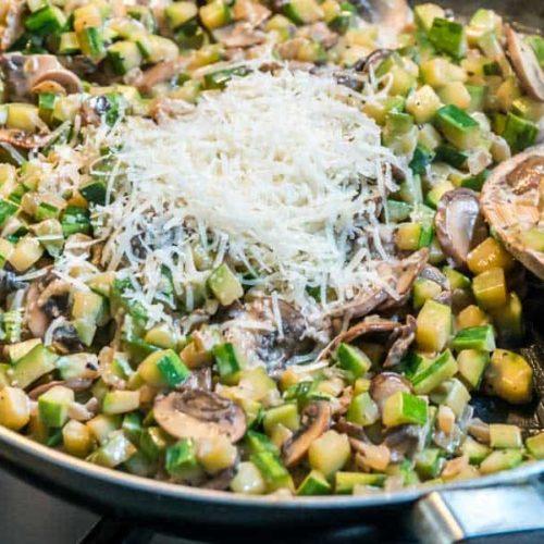 Risotto-Style Mushroom Zucchini