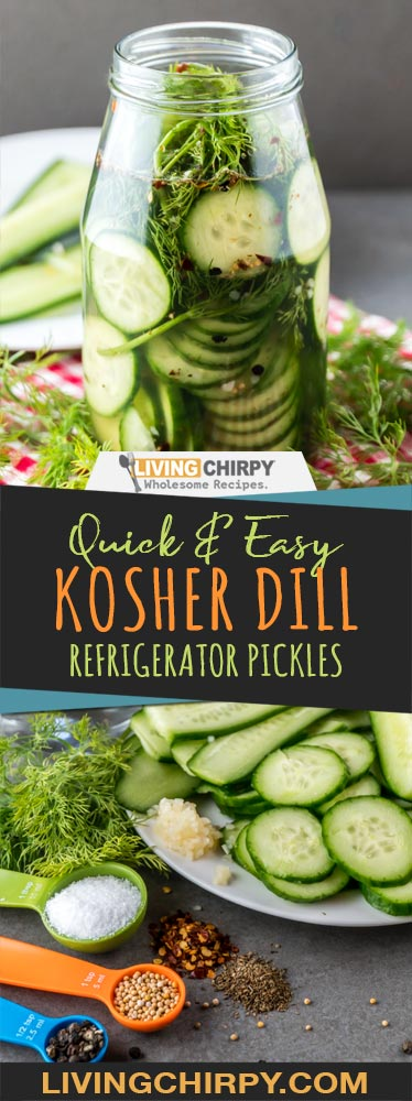Quick and Easy Kosher Dill Refrigerator Pickles