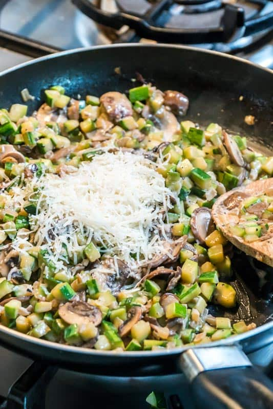 risotto style mushroom zucchini