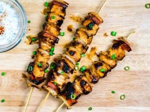 Honey Sriracha Chicken Kebabs