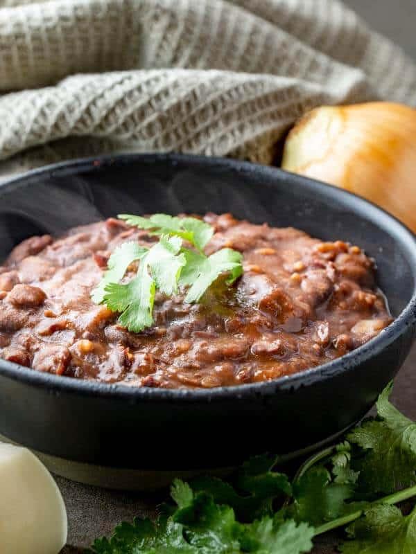 Easy Refried Kidney Beans