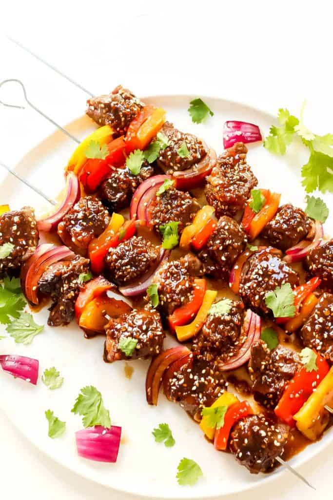 asian sesame steak kebabs