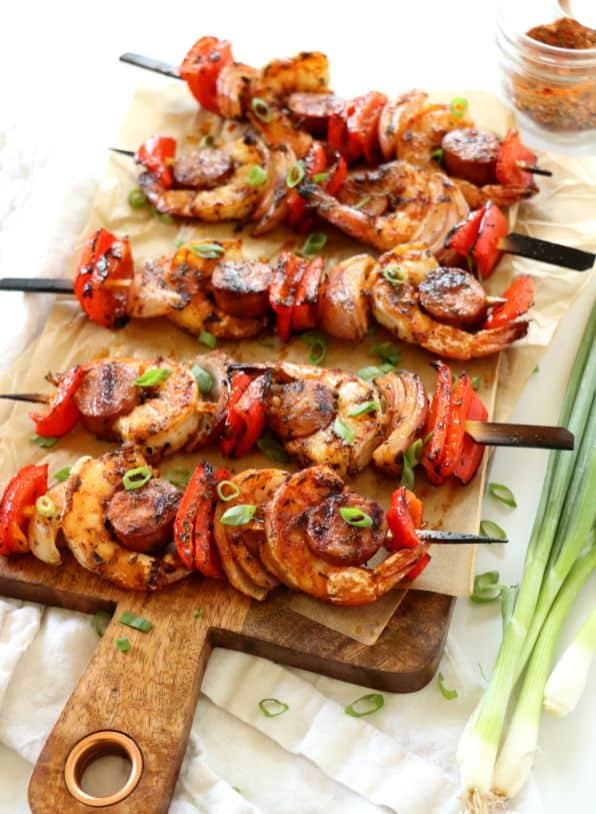 cajun shrimp kebabs