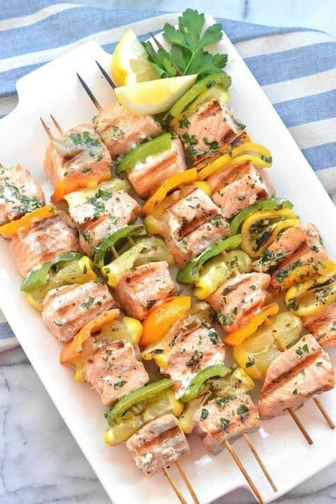 easy salmon kebabs
