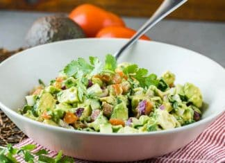 Avocado Tomato Cuccumber Salad