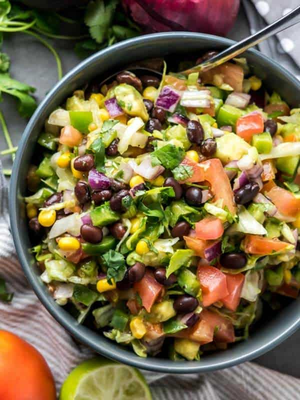 Easy Throw Together Chopped Mexican Salad-3