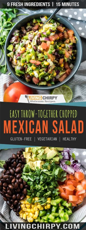 Easy Throw Together Chopped Mexican Side Salad