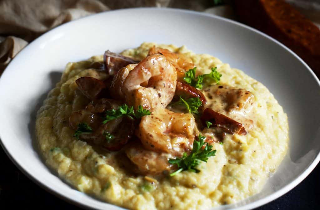 grain free kept shrimp and grits