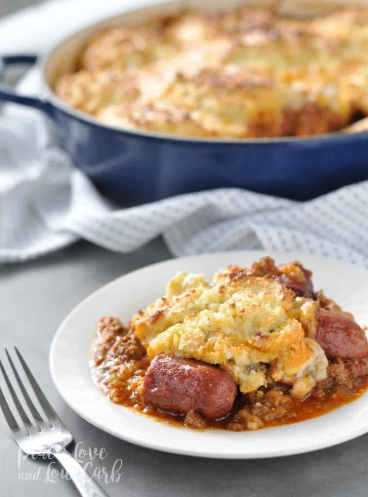 keto coney dog casserole