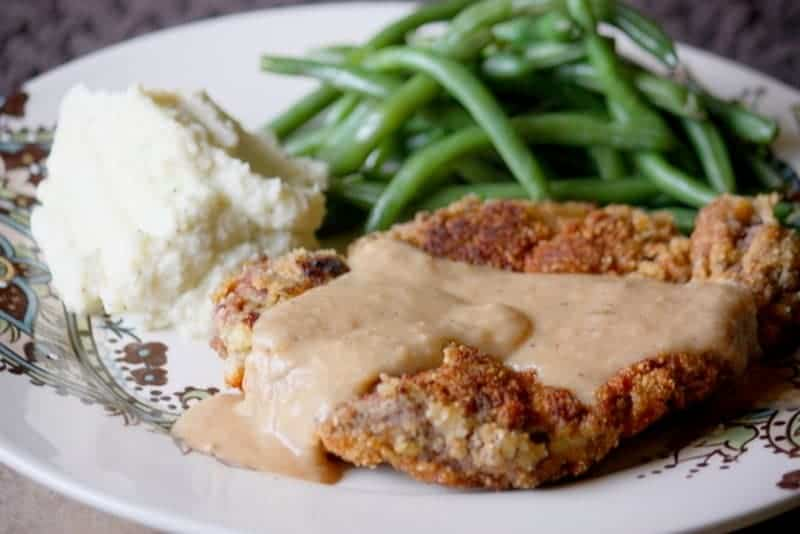 keto grain free chicken fried steak