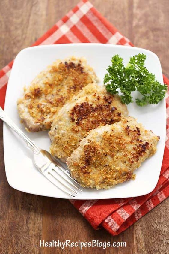 pork rind crusted pork chops