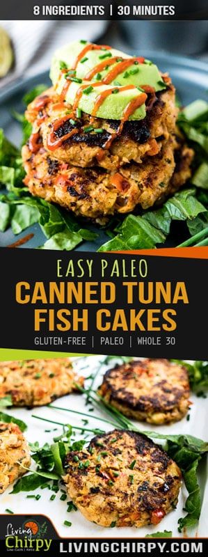 Pinterest Graphic For Easy Paleo Canned Tuna Fish Cakes