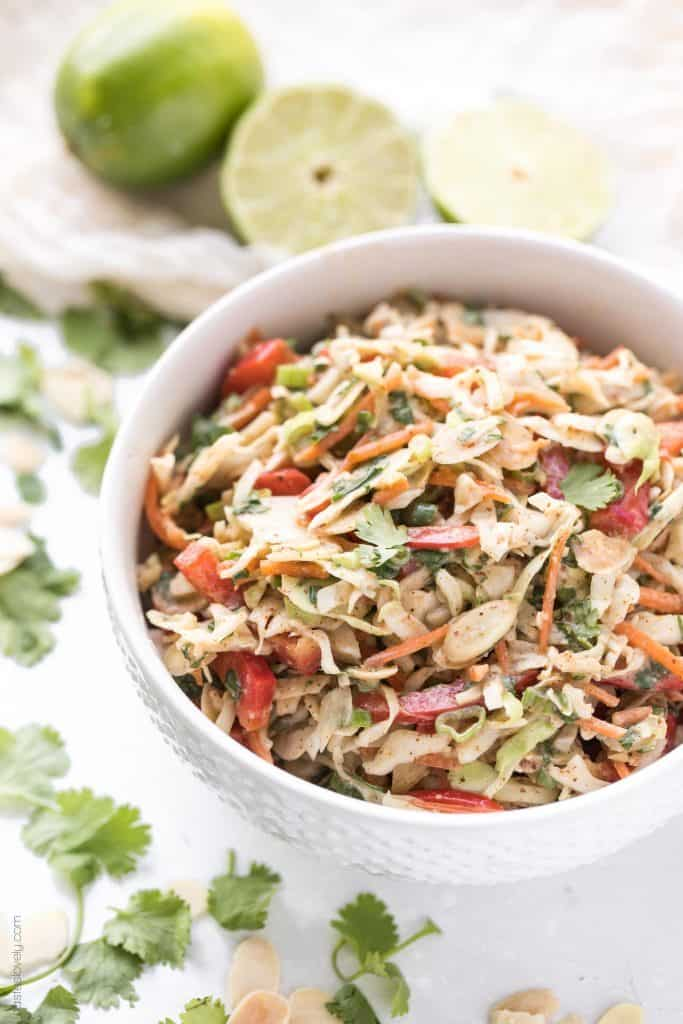 Thai Almond Butter Coleslaw