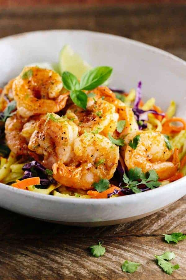 Thai Spiced Shrimp with Vegetable Noodles