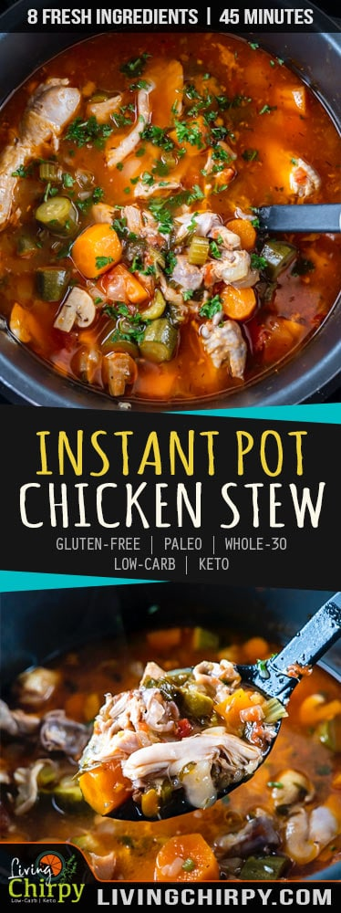 Instant Pot Chicken Stew Paleo Low-Carb Whole 30
