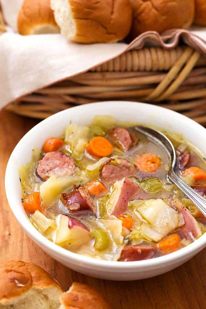 Instant Pot Kielbasa Cabbage Potato Soup