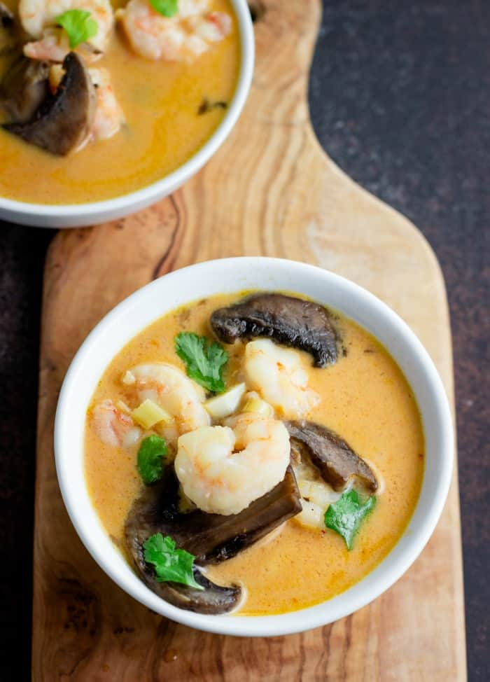 Keto Instant Pot Thai Shrimp Soup