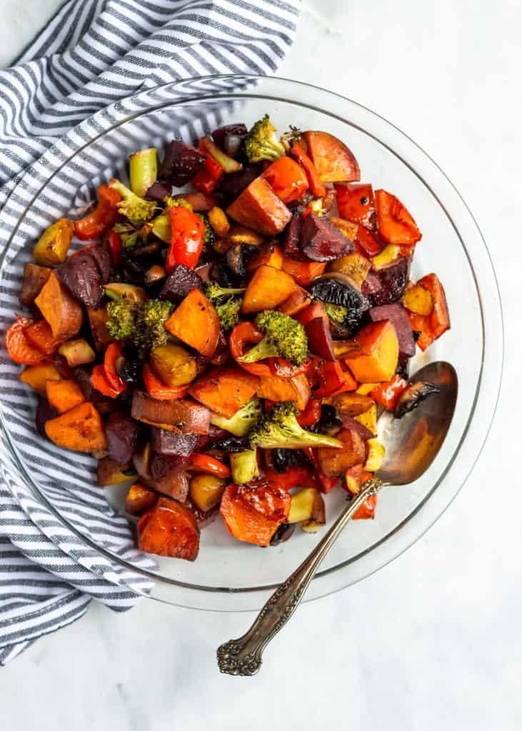 balsamic honey roasted vegetables