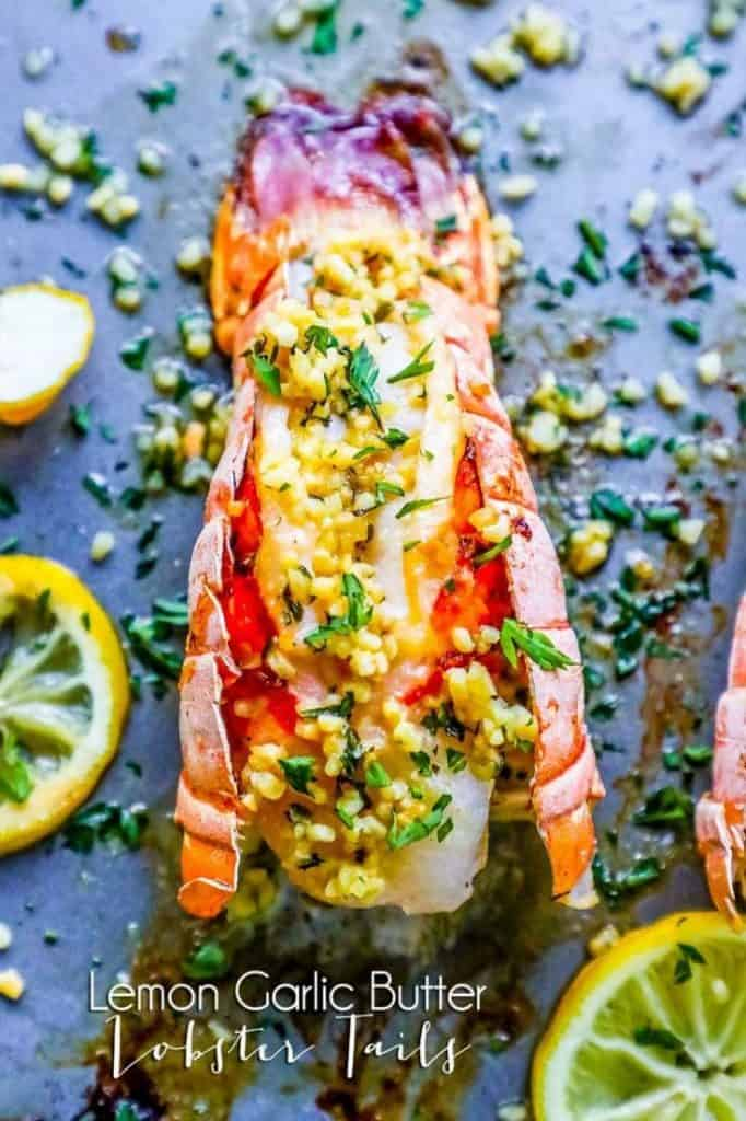 10 minute lemon garlic broiled lobster tails