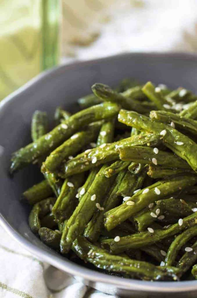 air fryer shawarma green beans