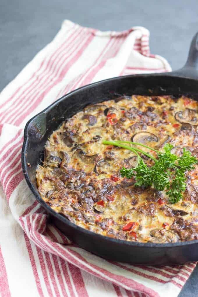paleo sausage and mushroom frittata