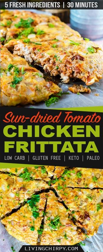 Keto Sundried Tomato Chicken Frittata