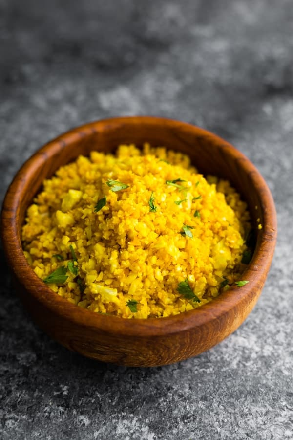 golden turmeric cauliflower rice