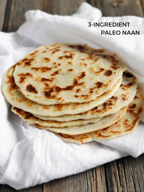 3 ingredient keto naan