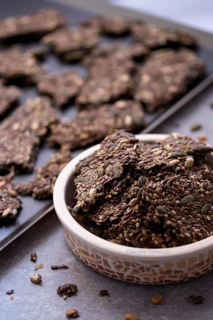 keto seed crackers
