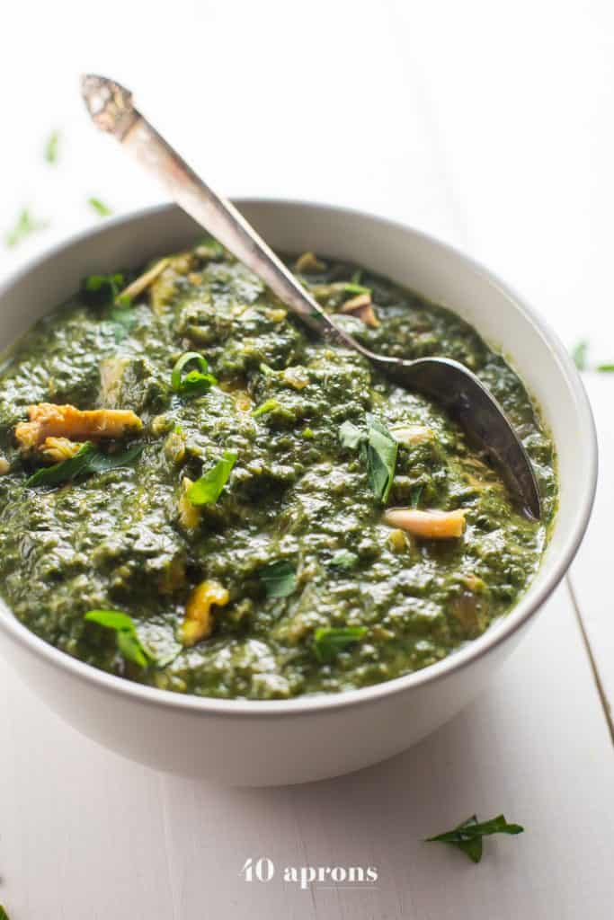 whole30 indian saag chicken
