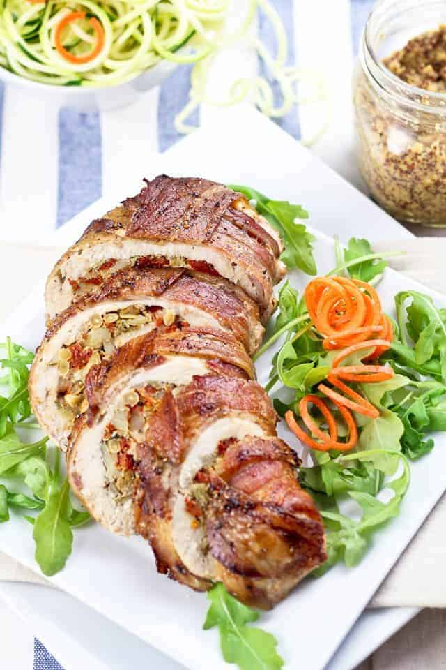 bacon wrapped stuffed chicken breast