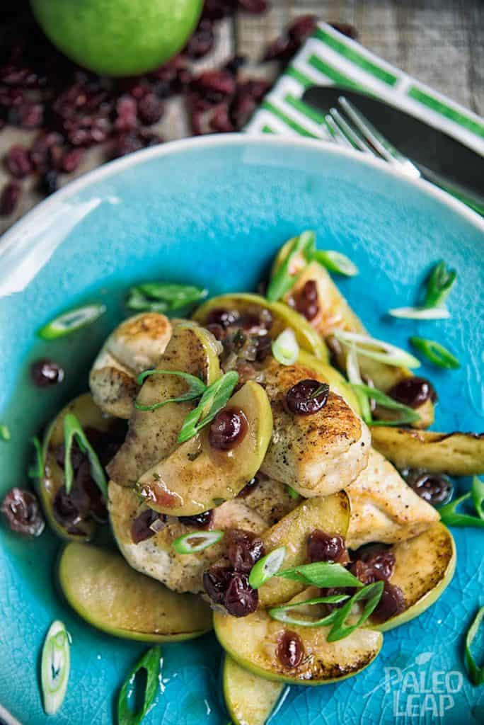 chicken with apples and cranberries