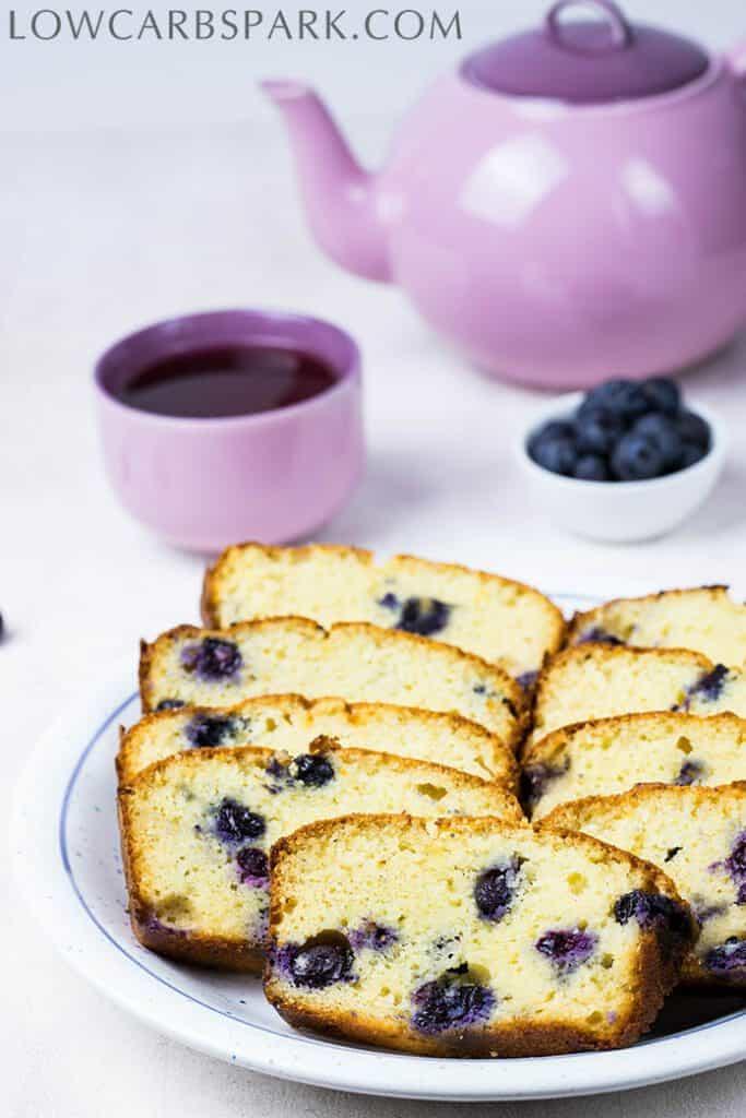 easy keto blueberry bread
