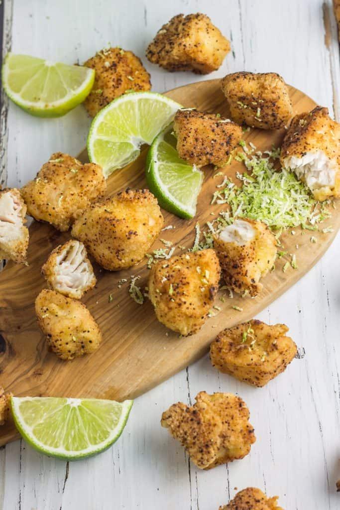 fried mahi fish bites