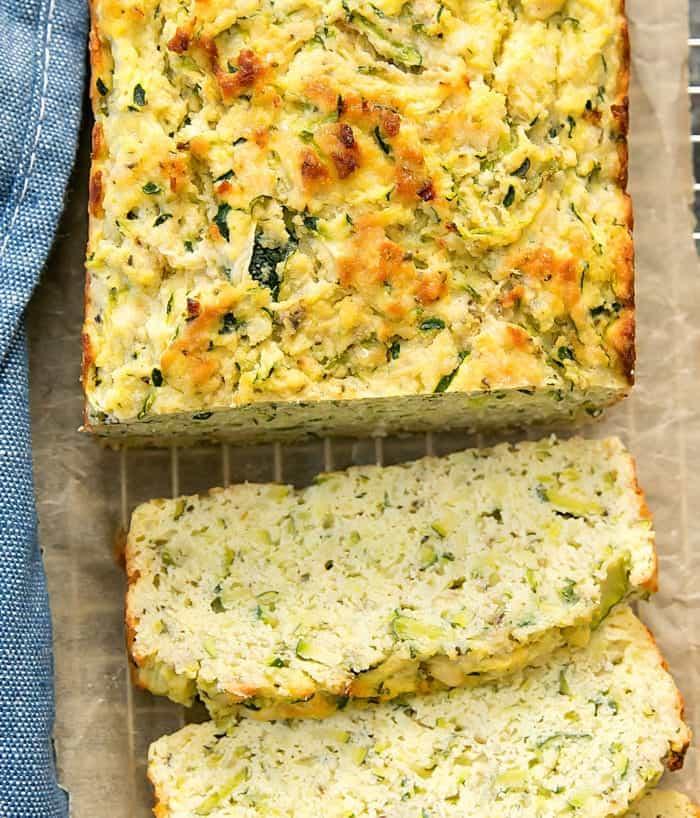 garlic parmesan zucchini bread