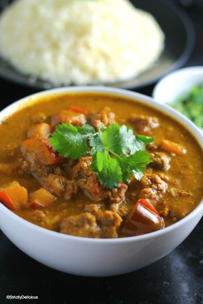 slow cooker squash and ground beef curry