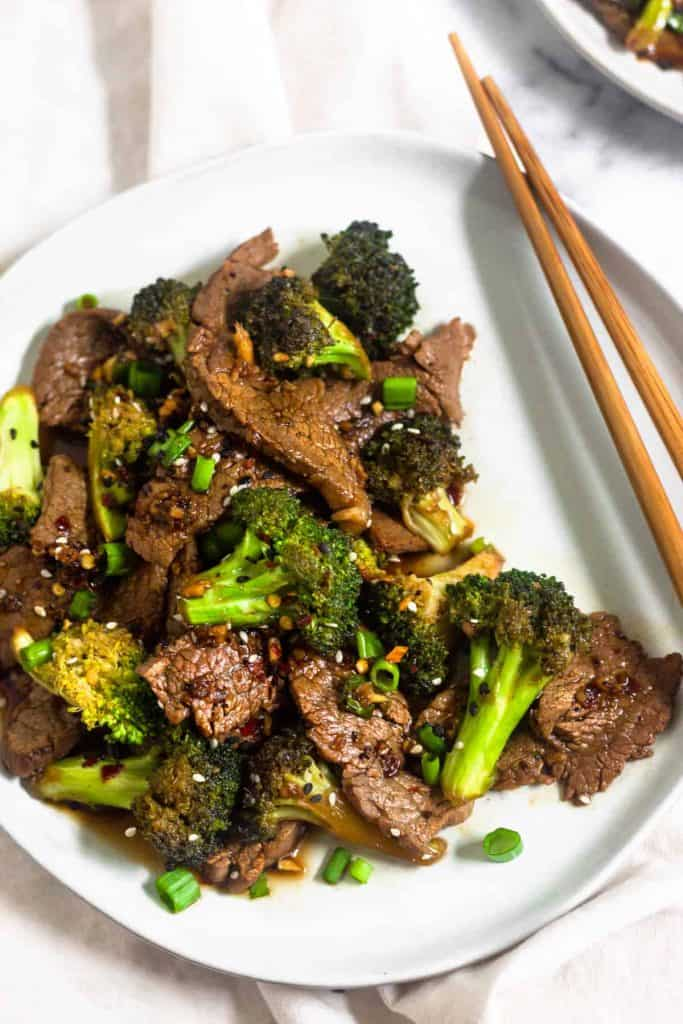 keto beef and broccoli stir fry
