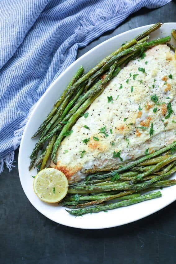 keto sheet pan salmon and asparagus