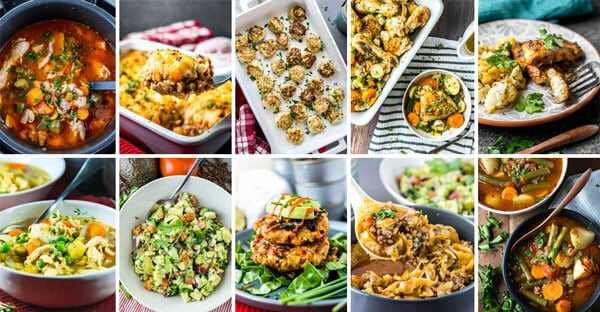 a grid of whole 30 recipe photos