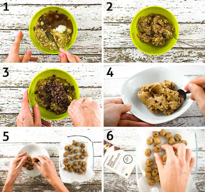 step-by-step instructions for how to make healthy edible cookie dough