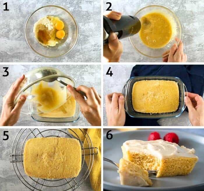 step by step instructions for making keto cake
