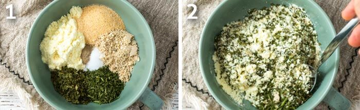 step by step instruction for how to making ranch seasoning powder