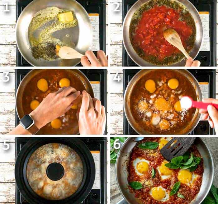 step by step instructions for making keto eggs in purgatory