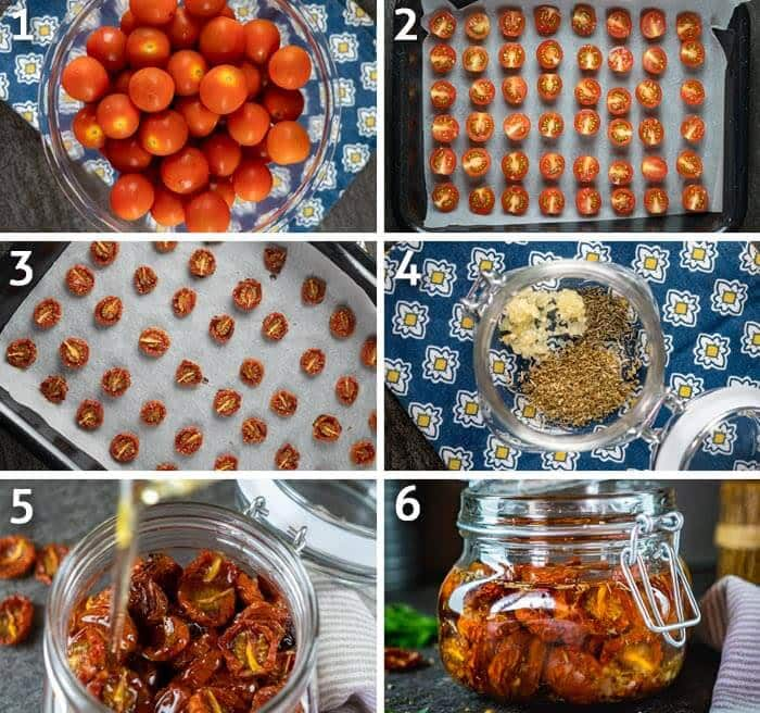 roasted cherry tomatoes steps